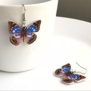 NEW Acrylic Japanese Emperor Butterfly Earrings